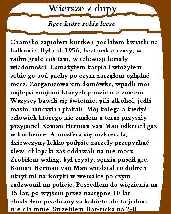 Wiersze Z Dupy Chamskopl