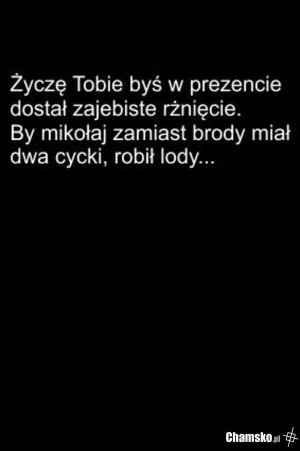 Wierszyk Mikołajkowy Chamskopl