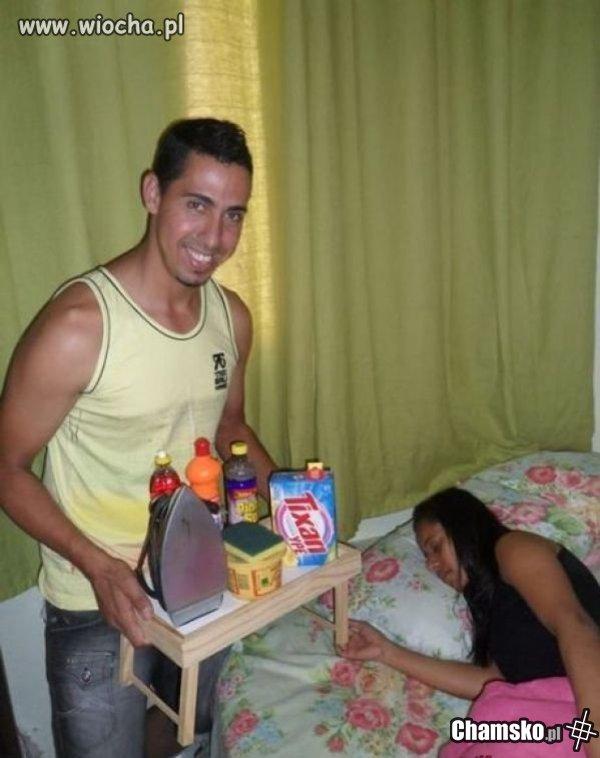 śniadanie Do łóżka Dla Kobiety Chamskopl