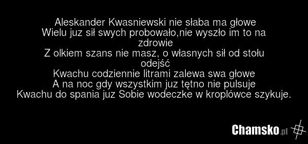 Wiersz Aleksandra Chamskopl