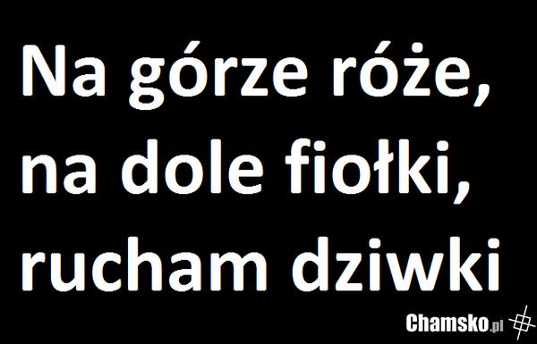 Wierszyk Chamskopl